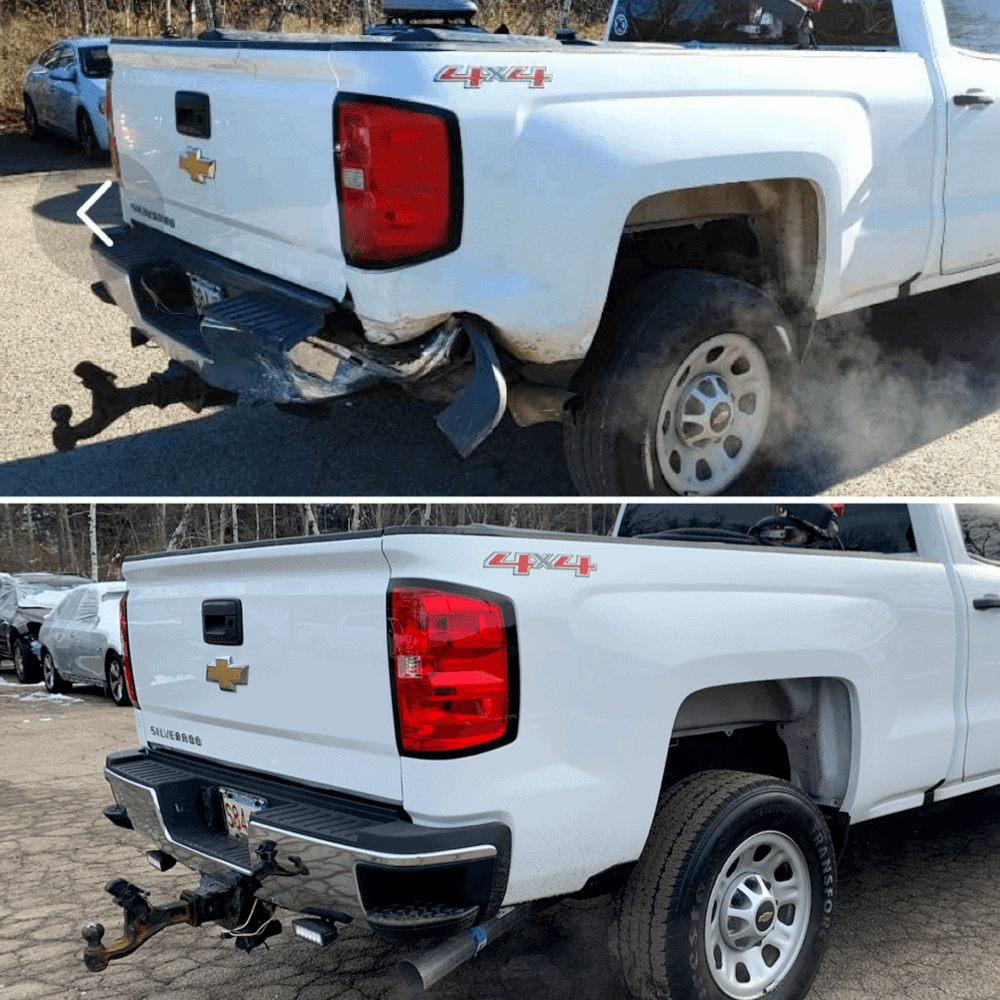Chevy Silverado Before and After Auto Body Work