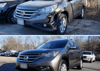 Honda CRV Before and After Auto Body Work